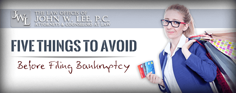 Things To Avoid Before Filing Bankruptcy - Newport News Chapter 7 Attorney