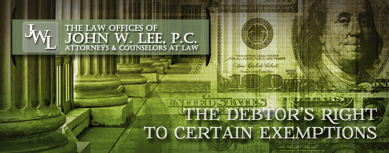Newport News Bankruptcy Attorneys - Debtor's Rights to Certain Exemptions